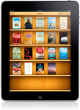iPad with book collection